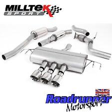 "Milltek Civic Type R FK8 Cat Back Exhaust 3"" Resonated Polish GT100 EC SSXHO240"
