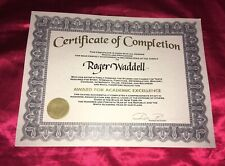 School for Scoundrels - Roger (Jon Heder) Production Used Prop Diploma! COA