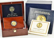 2009 ULTRA HIGH RELIEF UHR DOUBLE EAGLE $20 GOLD SAINT GAUDENS COIN W/ BOX & COA