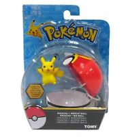 POKEMON CLIP 'N' CARRY POKEBALL PIKACHU WITH REPEAT POKE BALL FIGURE SET TOMY