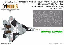 Canopy & Wheels Masks for PAK-FA Sukhoi T-50 HobbyBoss 87257 Limited Edition