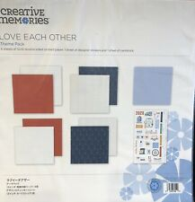 Creative Memories Love Each Other Theme Pack 2020 Sticker & Paper Scrapbook New