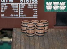 #H027 HO Wood barrels grouping of 5 Produits MP 172 diorama barils bois