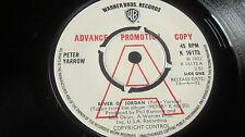 "PETER YARROW – River Of Jordan 7"" 'A' label demo/promo WARNER BROTHERS 1972 EX-"