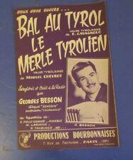 Partition musique valse Bal au Tyrol cavagnolo Le merle tyrolien Chevrot
