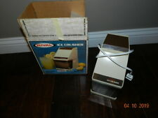 Rival Electric Ice Crusher With Container Model 840 Almond/Ivory