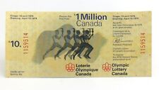 1974 Ten 10 Dollar Lottery Ticket 1 Million Dollar Montreal Olympic Canada I147