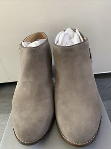 VIONIC JOY SERENA ladies low ankle boots in grey suede leather UK6