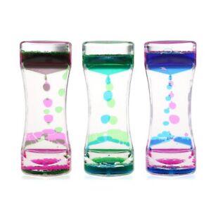 Liquid Motion Colorful Bubble Tumbler Classic Toy Fidget Water Timer