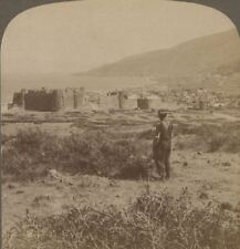 Palestine. Tiberias, on the Sea of Galilee, from the Northwest. Stereoview