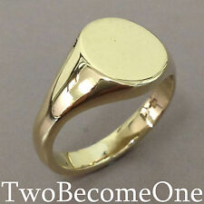 18 Carat Yellow Gold Signet Fine Rings