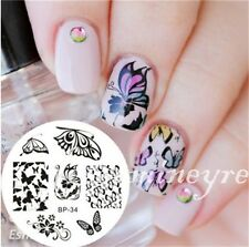 BORN PRETTY #34 Nail Art Stamping Image Plate Manicure Stencil Butterfly Pattern