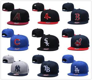 Embroidered Baseball Cap Snapback Adjustable MLB Team Logo Hats