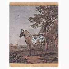 Miniatura Para Casa De Muñecas Grande Tapiz Con Caballos (tapsr03)