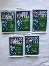 1990 PRO SET FOOTBALL (5 Pack Lot) Barry Sanders And Other Great Stars Possible