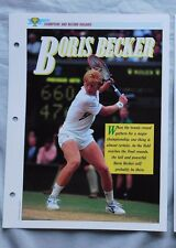 Boris Becker Champions & Record Holders Sports Heroes Sheet