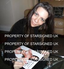 Linsey Dawn McKenzie SIGNED 12x8 PHOTO GLAMOUR modello & Adulto Star del Cinema COA
