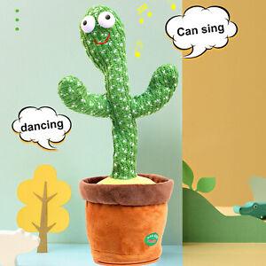 Cute Singing and Dancing Cactus Plush Toy Electronic Shake