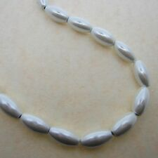 Magnetc Beads White Oval (Rice Shaped) Size: 6x12mm Beads - Strong and Beautiful