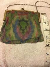 Whiting And Davis Mesh Multi-Color Purse Flapper
