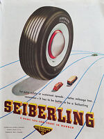 1947 Seiberling Tires Extra Safety at Sustained Speeds Original Ad