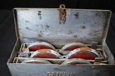 Vintage Ford Rotunda Reflector Flare Kit Metal Box