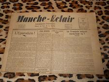 Journal MANCHE-ECLAIR, éd. du Sud de la Manche - n° 39, 28/09/1946