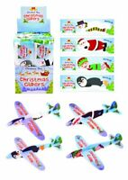 4 Christmas Glider Planes Kids Stocking Filler Party Bag Filler Xmas Eve Box Toy