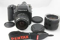 【NEAR MINT】  Pentax 645 Film Camera + 55mm f2.8 Lens + CONVERTER from Japan