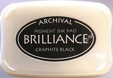 BRILLIANCE PIGMENT INKPAD ~GRAPHITE BLACK CODE BR-82