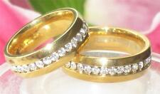 Cubic Zirconia Yellow Gold Wedding Costume Rings