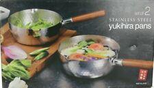 New listing Yukihira Nonstick 2 Pc Stainless Steel Saucepan