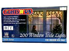 200 Holiday Christmas Clear String Window Icicle Lights
