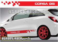 Vauxhall Opel Corsa 017 calcomanías de lado Racing Rayas Vinilo Gráficos Pegatinas GSI