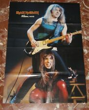 IRON MAIDEN GIANT FOLD POSTER 90,S BACK SIDE MORE POSTERS