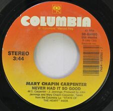 Country 45 Mary Chapin Carpenter - Never Had It So Good / Other Streets And Othe