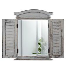 Nearly Natural 7024 vintage fenêtre volet /& Miroir Wall Decor