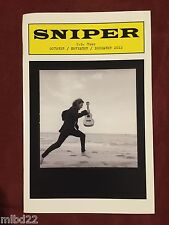 EDDIE VEDDER - 2012 Sniper playbill WOW pearl jam solo us tour ukulele songs