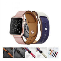Genuine Leather Watch Band Strap for Apple Watch 4 3 2 1 iwatch 4 38mm 42mm
