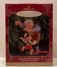 1999 Disney Pinocchio and Geppetto Hallmark Ornament Qxd4107 -
