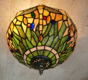 Tiffany Plafoniere Deckenlampe Libelle Tiffanylampe Lampe Dragonfly TC62-a