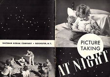 Picture Taking at Night 1940 Booklet Eastman Kodak Rochester NY Photography
