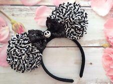 Disney Minnie Mouse Ears headband- Nightmare before Christmas- Jack Skeleton-new
