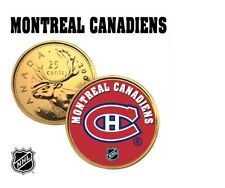 MONTREAL CANADIENS GOLD Quarter Coin NHL