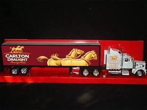 Carlton Draught Kenworth W900 1:43 Beer Delivery Truck Rig  Semi Barware