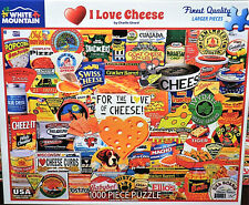 White Mountain Charle Girard I Love Cheese Collage 1000 Pc Jigsaw Puzzle