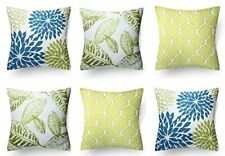 THROW PILLOW CASE CUSHION COVER  18 X 18 INCH~ SET OF 6 ~100 % COTTON FLORAL