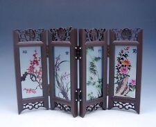 Home Decor Chinese Desktop Screen 4 Seasonal Flower Gift Box BRAND NEW #04261701