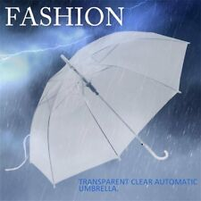 Fashion Transparent Clear Automatic Umbrella Parasol For Wedding Party Favor ST