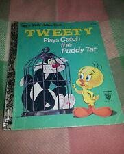 VINTAGE 1980 TWEETY PLAY CATCH THE PUDDY TAT LITTLE GOLDEN BOOK